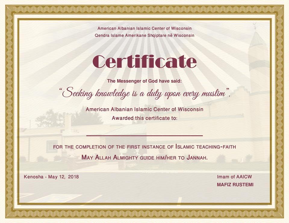 Përfundon me sukses mësimi fetar për vitin akademik 2017-18