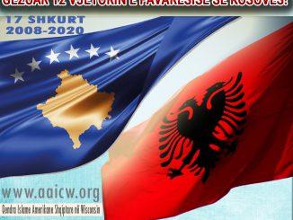 GËZUAR 12 VJETORIN E PAVARËSISË SË KOSOVËS!